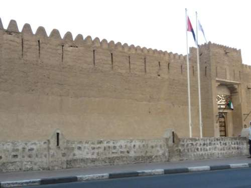 castle fort fortification fortress Dubai