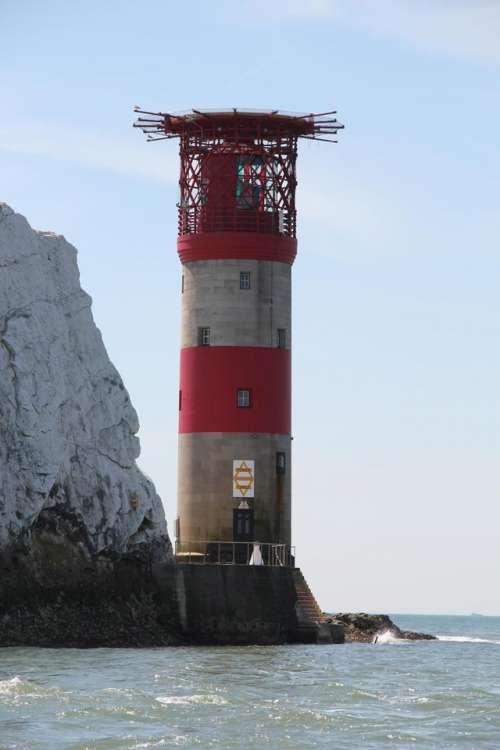 scenery coast coastal lighthouse cliffs
