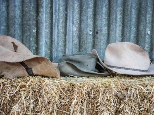hats farm hay farming straw