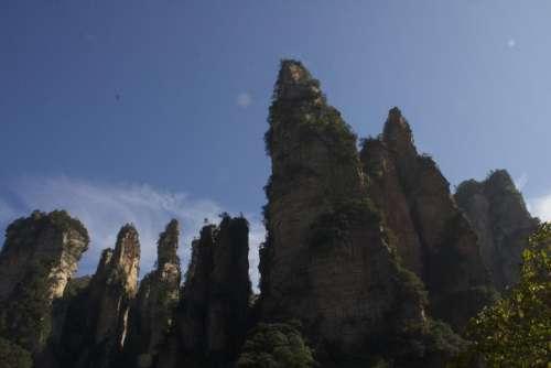 Zhangjiajie Park China Cliffs Forest
