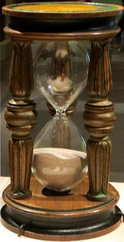 hourglass hour glass wood time sand