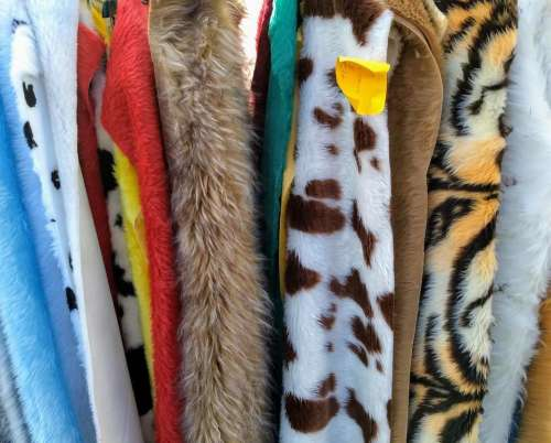 faux furs furs clothes tack fabric