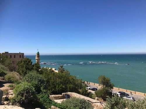 mediterranien sea blue sky ocean