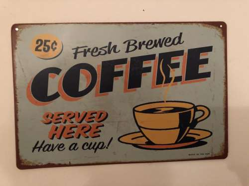 Coffee sign ad advertisement