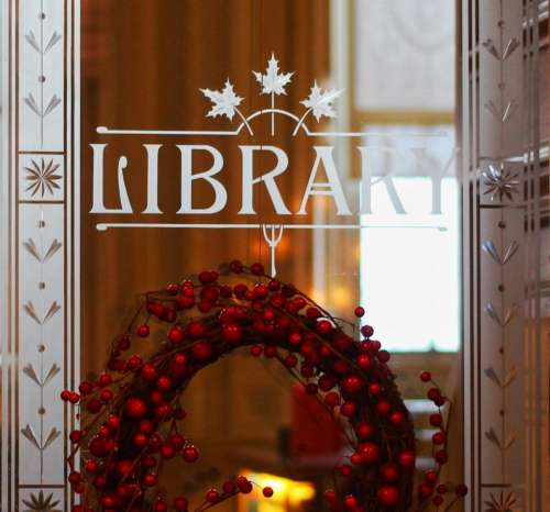 holiday christmas decorations library winter