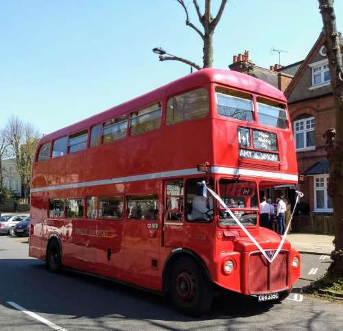 re bus london routemaster wedding bus