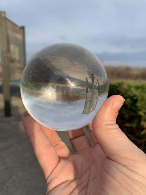 Orb sphere illusion reflection surreal