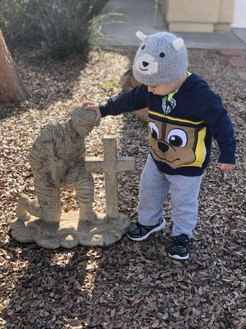 Veteran cross toddler boy respect