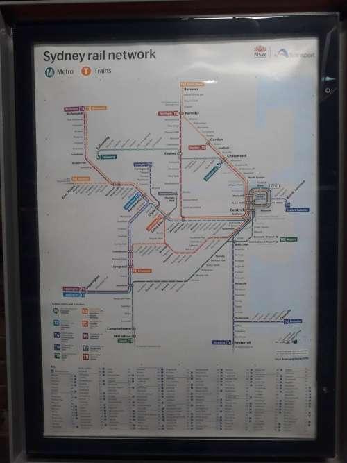 public transportation bus commute sign Australia