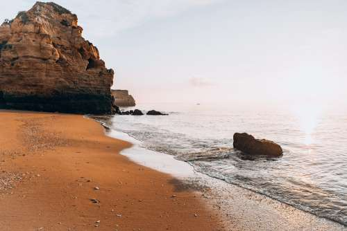 Beautiful Morning on a Beach in Portugal