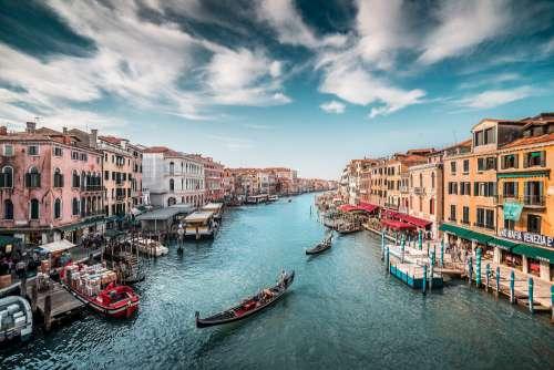 Canal Grande with Gondolas in Venice