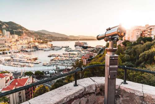 Monaco Viewpoint with Binoculars Telescope