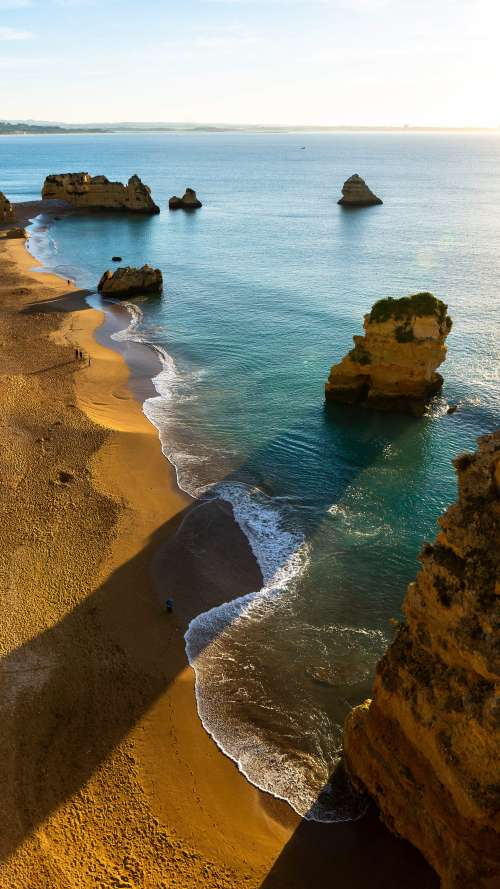 Morning on a Beach in Portugal