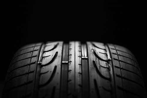 Tire Tread Pattern Close Up