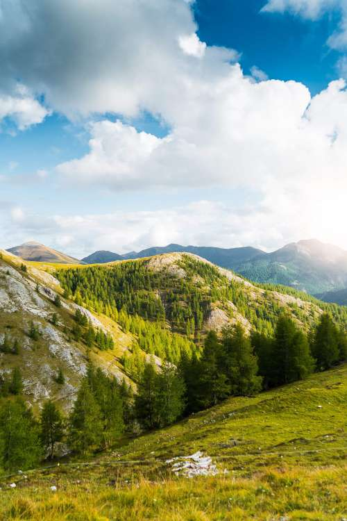 Scenery Around Nockalm Mountain Road Alpine Pass