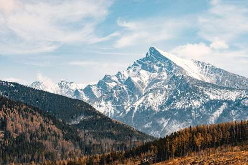 Tremendous Mountain Peak Kriváň in High Tatras, Slovakia