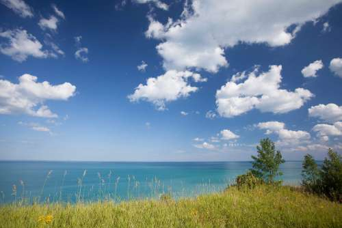 View of the Lake Michigan on a Sunny Day