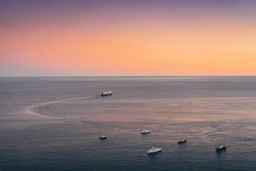 Yachts, Boats and Cruise Ship Near Monaco