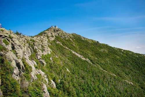 Adirondacks State Park Mountain Trees Rock