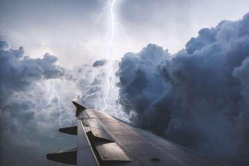 Aircraft Flying Sky Cloud Nature Storm