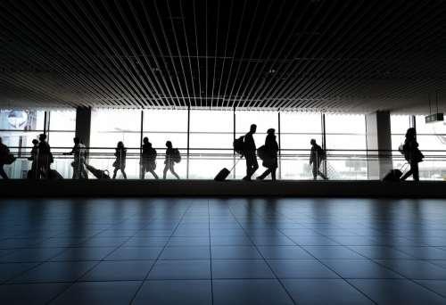 Airport People Walking Waiting Gate Walk Woman
