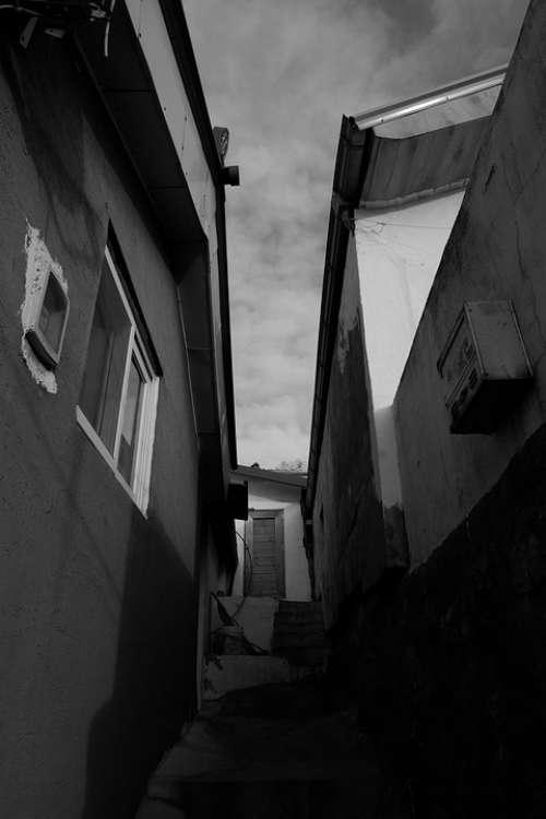 Ally Alley Narrow House Home Republic Of Korea