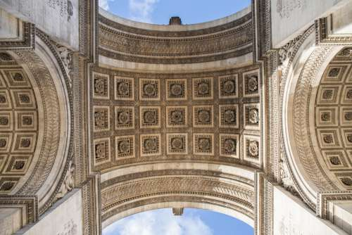 Arc De Triomphe Architecture Vaulted History