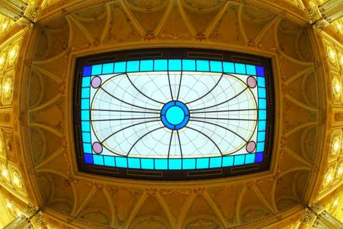 Architecture Ceiling Stained Glass Window
