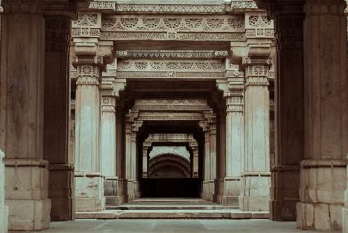Architecture Monument Hallway Historic Ancient