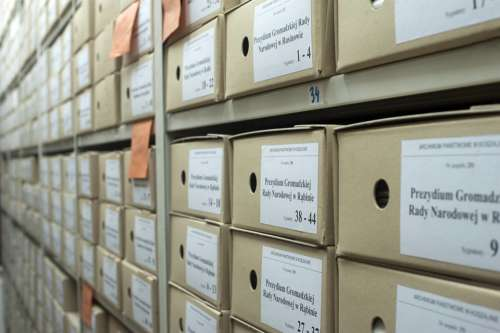 Archive Boxes Documents Folders Business Data