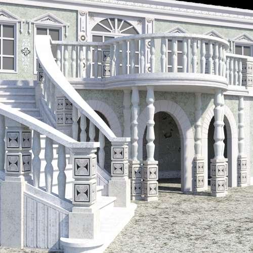 Art Nouveau Palace Stairs Architecture Building