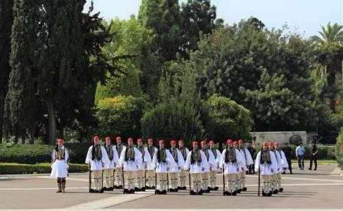 Athens Guards Parliament Guard Greek Syntagma