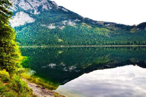 Ausseer Lake Autumn Nature Water Austria Alpine