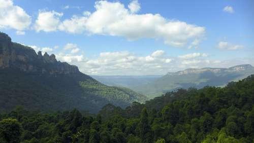 Australia Three Sisters Rock Mountain Blue Mountain