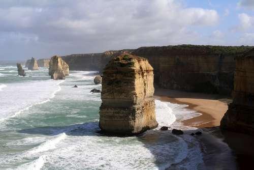 Australia Ocean Beach Victoria Landscape Tourism