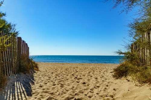 Away Beach Serignan South Of France Sand Beach