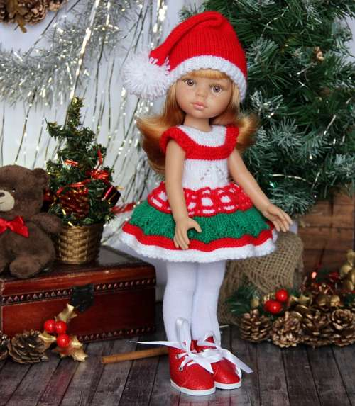 Baby Doll Gnome Holiday Red Jewelry Dolls Play