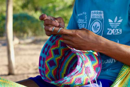 Bags Wayuu Indian Culture Colombia Ethnic
