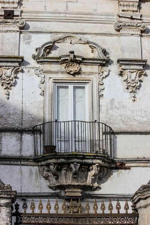Balcony Baroque Facade Architecture