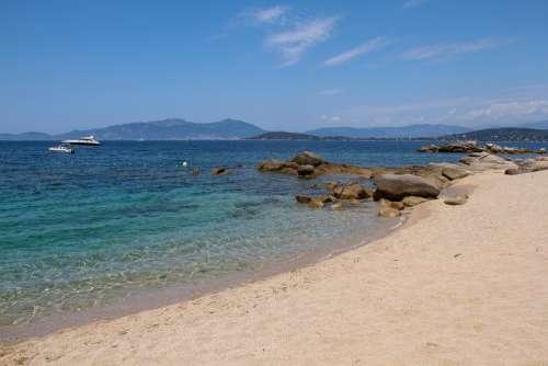 Beach Coti-Chiavari Corsican Sea Summer Blue Sand