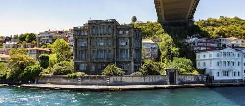 Bosphorus Istanbul Marmara Sea Shore Buildings