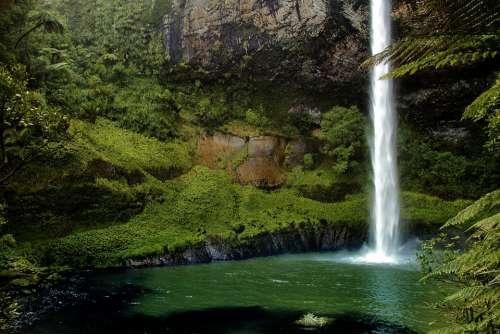 Bridal Veil Fall New Zealand Waterfall Nature