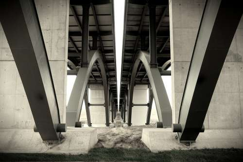 Bridge Steel Structure Architecture Symetry