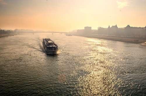 Budapest River Ferry Boat Hungary City Urban