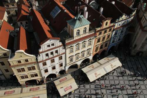 Buildings Prague Czech Town Tourist Aerial