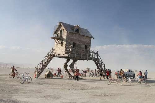 Burning Man Art House Art Architecture Desert
