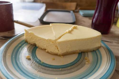 Cake Cheesecake Yellow Tasty Appetizer Dessert