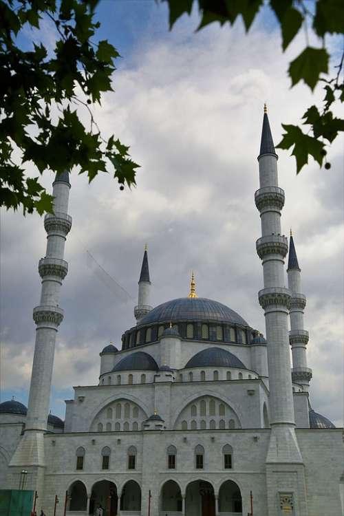 Cami Minaret Dome Architecture Building Islam