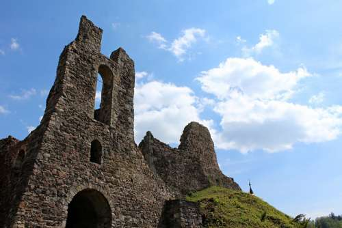 Castle Ruins Middle Ages Building Old Historically