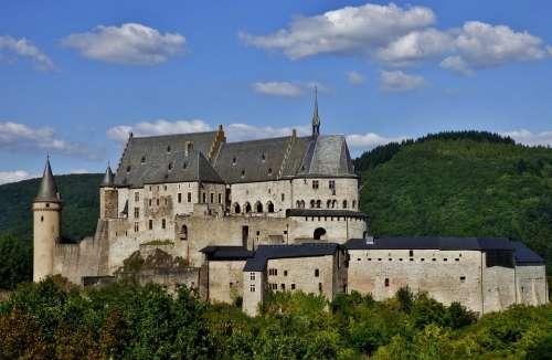 Castle Bourscheid Vianden Luxembourg Castle